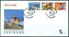 SURINAME UITGAVE 2008 FDC 311 VISSEN 2008.