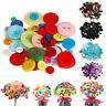 100Pcs Round Resin Buttons for DIY Scrapbook Crafts Apparel Sewing Mixed Size