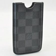 Authentic Louis Vuitton Damier Graphite Etui Phone case 3G N62669 #S3496 E