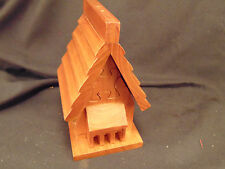 Solid Wood brain teaser puzzle hand crafted House various woods challenging