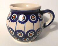 Kaffeetasse Saftbecher kugelige Tasse aus Bunzlauer Keramik; 200ml (*4025)
