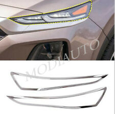 2019 2020 For Hyundai Santa Fe ABS Chrome Headlight Front Light Cover Trim 2pcs