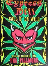 Cypress Hill Fillmore Poster Call O' Da Wild Origin Bill Graham F205 Chris Shaw