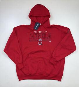 NEW Los Angeles Angels Hoodie Sweatshirt Size XL Red MLB Baseball Fanatics Brand