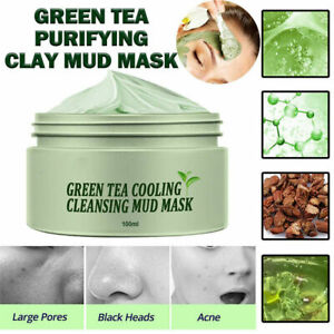 2021 Green Tea Mask Deep Cleansing Mud Clay Stick Face Skin Pores Moisturizing