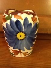 Wheelock Black Forest Handpainted Pottery Germany Small Floral Flower Vase 4.5""