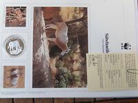 30 Jahre  WWF 1986 Säbelantilope Silber 999  PP
