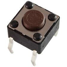 10 Diptronics DTS-61N-V Mini-Taster 12V 50mA 1xEIN 1,6N 6x4,3mm liegend 855610