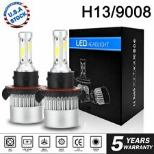 Pair H13 9008 1950W 285000LM CREE LED Headlight Bulb Kit Hi/Lo Beam 6000K White