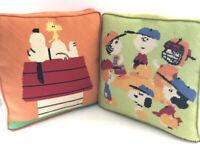 Vintage Snoopy | Peanuts Charlie Brown Needlepoint Handmade Throw Pillows