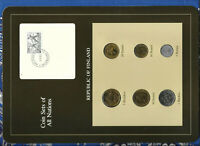 Coin Sets of All Nations Finland all 1983 UNC but 10 Pennia 1982 fisher stamps