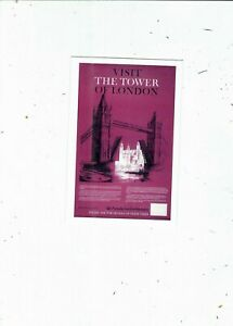 UK.RAIL POSTER POSTCARD PUBL STAR EDT  BR  VISIT THE TOWER OF LONDON