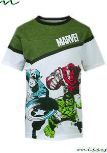 BNWT boys Marvel avengers iron man hulk america Top t-shirt Shorts 5 - 14 years