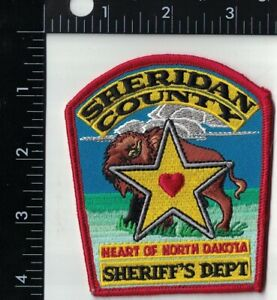 Sheridan County Sheriff's Dept. Police Patch North Dakota ND