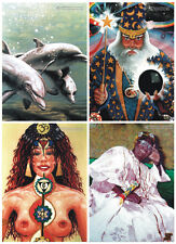 4 POSTCARDS Psychedelic Spiritual Visionary Photorealistic Fantasy Whimsical Art
