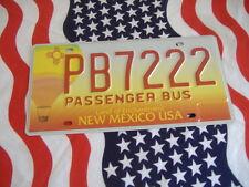 US NEW MEXICO 222 PB BUS Auto Plate KENNZEICHEN NUMMERNSCHILD Schild Logo of USA