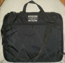 Eddie Bauer Black Nylon Expandable Laptop Briefcase Thick Padded Messenger Bag