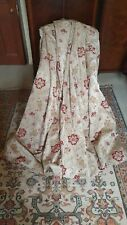 """Fabulous pair of heavy floral tapestry lined curtains 107"""" wide x 83"""" drop"""