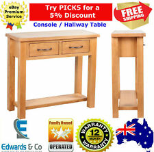 Wood Hallway Bedroom Console Table Side Oak Dressing Table 2 Drawers Furniture
