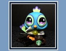 AUTHENTIC Littlest Pet Shop Blue Green Purple Big Eyes Peacock #869 STARBUCKS