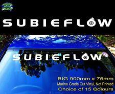 SUBARU Stickers IMPREZA Gc8 wrx SUBIEFLOW front windscreen Decal 900mm