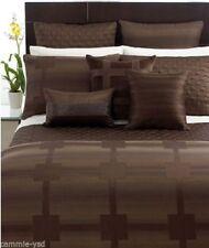 "Hotel Collection Modern Hexagon Bedskirt King 16"" Brown Tailored Bedskirt NEW"