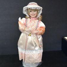 Vintage Mary Had A Little Lamb Porcelain Doll Ashton Drake