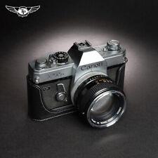 Leather Half Case Black For Canon FTb FT TL TLb Camera Handmade Retro Cover New