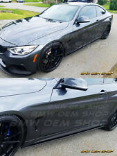 MATTE BLACK FINISH PERFORMANCE SIDE SKIRTS EXTENSIONS for 2014+ BMW F32 F33
