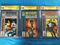 Wolverine Punisher Damaging Evidence #1-3 - CGC SS 9.8 NM - Sign by Carl Potts