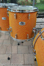 "PEARL EXPORT 14"" EXR ORANGE SATIN SWIRL CHAD SMITH FLOOR TOM fr UR DRUM SET T685"