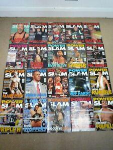 WWE / WWF BUNDLE OF 20 POWER SLAM MAGAZINES / 148-206