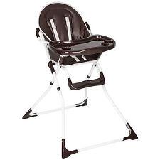Chaise haute de bébé pour enfants grand confort brun
