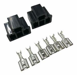 H4 Stecker + 6x Pin WEIBLICH für Birne Reparatur Stecker Sockel Fassung Lampen