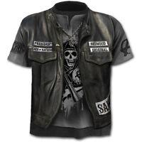 Fashion Men's Funny Skull 3D Print T-Shirts Casual Short Sleeve Tops Tee New