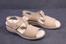C1205 Brödel Damen Fußbett Sandalen Leder beige Gr. 41 (7,5G) Wechselfußbett NEU