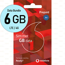 SIM-card 6GB DATA EU-Roaming Vodafone NL Activated NO ID Prepaid Pay as you go