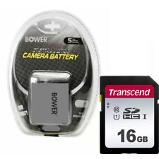 Bower LP-E8 Battery + 16GB SD Memory Card Kit for Canon EOS T2i T3i T4i T5i
