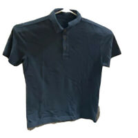 UNTUCKit Mens Polo Shirt Blue Pima Cotton Short Sleeve Collared L