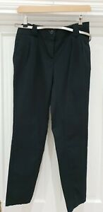 NEXT Navy Belted Chinos Tapered Pants UK 8