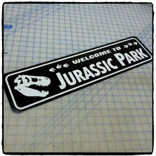 "Welcome to Jurassic Park 6""x24"" Aluminum Sign"