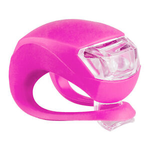 New Bicycle Light Front & Rear Bike Light Set Pink Push Cycle Light Clip