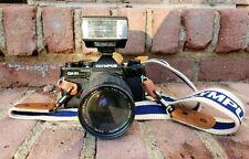 Olympus OM-2S Program 35mm SLR Kalimar MC Auto Zoom 1:3.5 28-85mm Lens & Flash!!