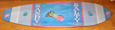 CUSTOM SURFBOARD BEACH RUG MAT - SANDY TOES AND SALTY KISSES IN LOVE FISHES