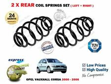 FOR VAUXHALL CORSA C + TWINSPORT + VAN 2000-2006 NEW 2 X REAR COIL SPRINGS SET