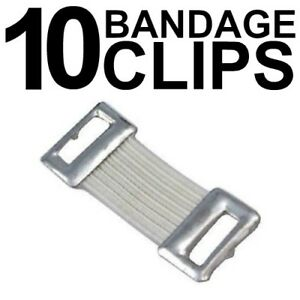 ELASTIC BANDAGE CLIPS (10 /pkt) WHITE AND TAN COLOUR FIRST AID