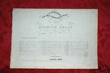 Spartito Tito Ricordi 1851 I Lombardi alla Prima Crociata di Giuseppe Verdi