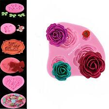 Roses Flower Bow Silicone Mould Sugarcraft, Cake Decorating , Fondant,Fimo UK