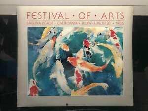 Vintage Festival Koi of Arts Laguna Beach California Julie WatsonPoster