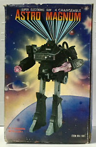 ASTRO MAGNUM Transformer Robot Gun 1980s untested for parts with original box